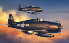 disegno, Navy Fighter, Hellcat, Stati Uniti d'America
