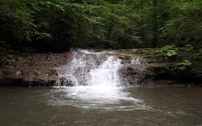 природа, водопад, вода, красота