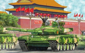 picture, parade, podium, main battle tank, MBT, PLA, China, China