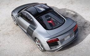 grigio, auto, asfalto, Audi