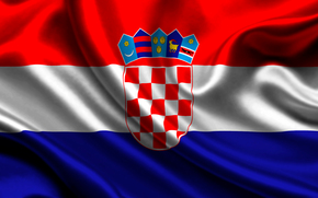 croatia, satin, flag, Croatia, Atlas, flag