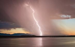 lake pueblo, lake, lightning, storm