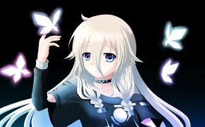 Art, Vocaloid, girl, Butterflies