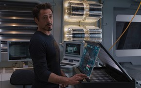 The Avengers, Marvel, SCH.I.T, man of iron, Tony Stark, Robert Downey Jr., smirk, screen