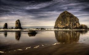 sea, rocks, nature, landscape