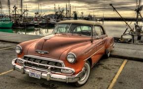machine, wharf, background, Chevrolet