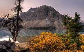 river, mountain, landscape