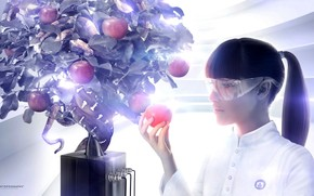Creativity, Eve, apple, snake, tree, fruit, glasses, variation