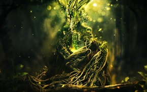 home, tree, plexus, greens, Sparks, the roots, grass