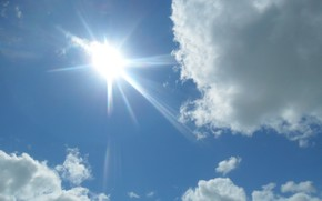 sky, cloud, sun, radiance