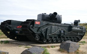 tank, England, memorial, howitzer, slow, heavily armored