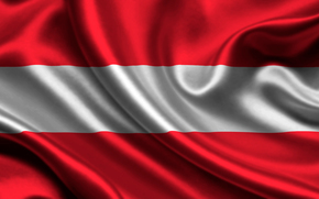 Austria, Atlas, flag, austria, satin, flag