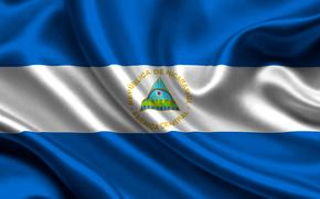 Nicaragua, Atlas, flag, nicaragua, satin, flag