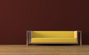 диван, пол, мебель, 3d модель