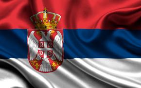 serbia, sateen, flag, serbia, satin, flag