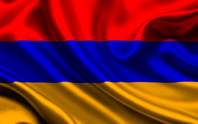 armenia, satin, flag, Armenia, Atlas, flag