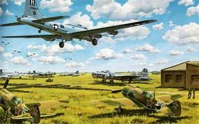 Советские, самолеты, авиация, аэродром