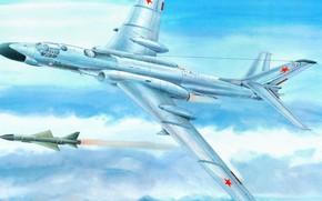 советский, тяжёлый двухдвигательный реактивный многоцелевой, бомбардировщик, самолет, ракета, ВВС