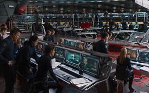 Avengers, Merveille, Superheroes, quipe, organisation, SCH.I.T, Nick Fury, Samuel L. Jackson, agents, Moniteurs, quipement,  bord des navires