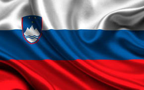 Slovenia, Atlas, flag, slovenia, satin, flag