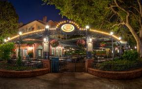 California, anaheim, Disneyland, semaforo, notte
