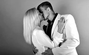 пара, контраст, белый костюм, романтика