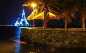 ночь, винпеарл, канатная дорога, вьетнам