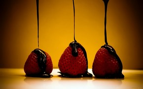 strawberry, chocolate, food