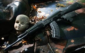 automtico, arma, fundo