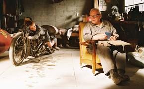 Энтони Хопкинс, мужчина, фильм, Самый быстрый Индиан, моточикл, мальчик, фон