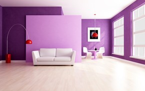 sofa, window, picture, Table, chair, lamp