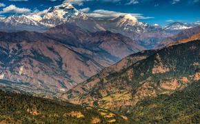 Nepal, Montagne, Himalaya, Annapurna catena montuosa, cielo, Emad aljumah rhotography