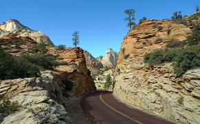 Parchi, Sion, strada, Rocks, paesaggio