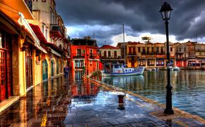 Grecia, Grecia, terrapieno, edificio, Barche, semaforo