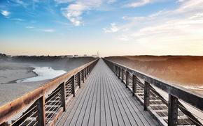 pont, paysage, couleur