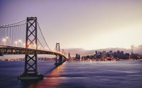 城市, 旧金山, 旧金山, 加州, 美国, 从旧金山到奥克兰的桥梁, 海湾大桥, 张子恒rhotography, 尼康d800e
