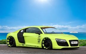 Audi, Supercar, green, Tuning, Audi