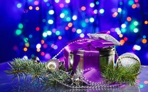 贈り物, モミの木, ビーズ, ぼけ味, トイズ, 休日, 新年