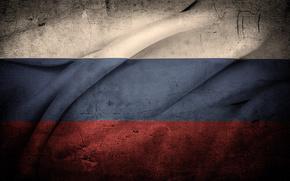 Russia, flag, grunge