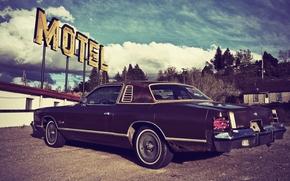 motel, мотель, автомобиль, ретро, сша, винтаж, 70-е