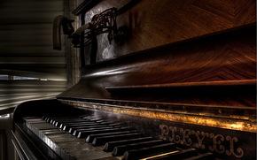 пианино, музыка, фон