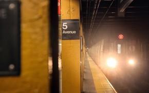 metro, train, Tunnel