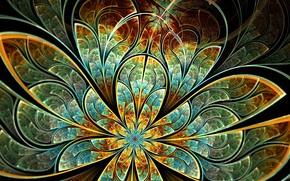 арт, узор, цветок, лепестки