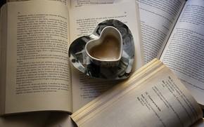 caf, Libros, Pgina, jarra, corazn