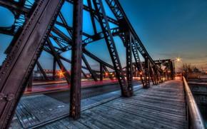 citt, notte, ponte