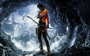game, cave, water, onion, Boom, girl, tomb raider