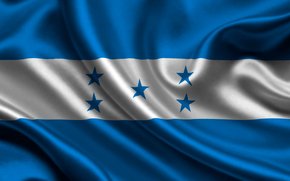 honduras, satin, flag, Honduras, Atlas, flag