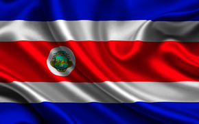 costa rica, satin, flag, Costa Rica, Atlas, flag