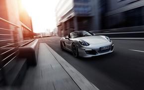 порше, бокстер, движение, скорость, улица, Porsche