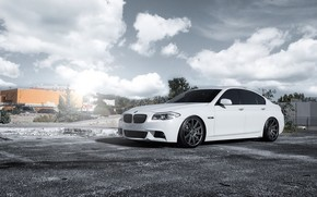 белый, бмв, BMW